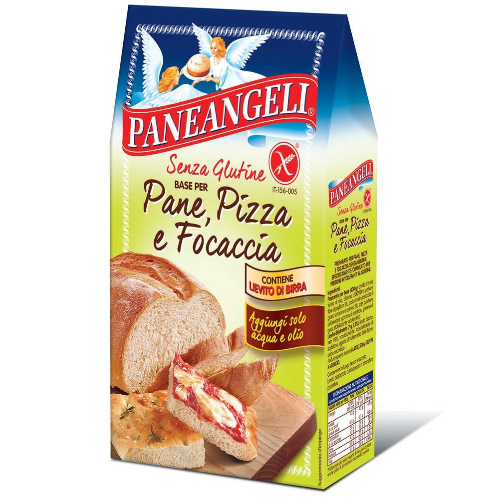 Paneangeli Base per Pane, Pizza e Focaccia<br>SENZA GLUTINE