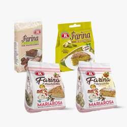 Rebecchi - Bundle Farine alternative: mandorle, pistacchi, nocciole e castagne