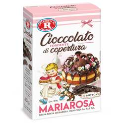 Mariarosa - Cioccolato fondente di copertura in bottoni senza glutine 125g