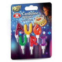 Rebecchi - Rebecchi Candeline Auguri: lettere multicolore per festa di compleanno