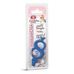 Mariarosa - Mariarosa Candelina nr 8 color azzurro al profumo di vaniglia per festa di compleanno