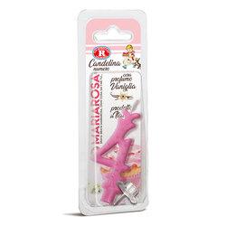 Mariarosa - Mariarosa Candelina nr 4 color rosa al profumo di vaniglia per festa di compleanno