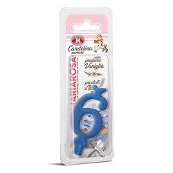 Mariarosa - Mariarosa Candelina nr 6 color azzurro al profumo di vaniglia per festa di compleanno