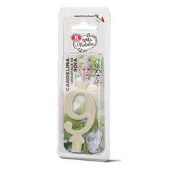 Rebecchi - Rebecchi Candelina vegetale di soia nr 9 color bianco per festa di compleanno