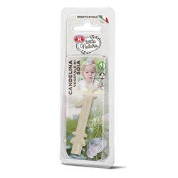 Rebecchi - Rebecchi Candelina vegetale di soia nr 1 color bianco per festa di compleanno