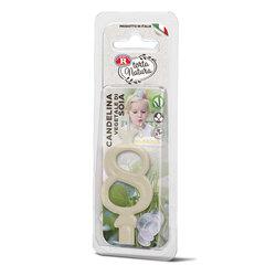 Rebecchi - Rebecchi Candelina vegetale di soia nr 8 color bianco per festa di compleanno
