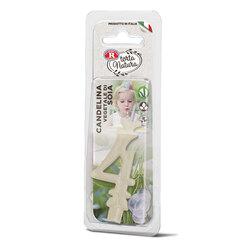 Rebecchi - Rebecchi Candelina vegetale di soia nr 4 color bianco per festa di compleanno