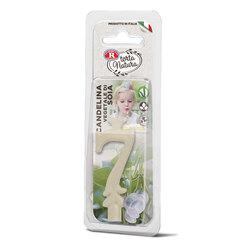 Rebecchi - Rebecchi Candelina vegetale di soia nr 7 color bianco per festa di compleanno
