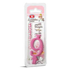 Mariarosa - Mariarosa Candelina nr 9 color rosa al profumo di vaniglia per festa di compleanno