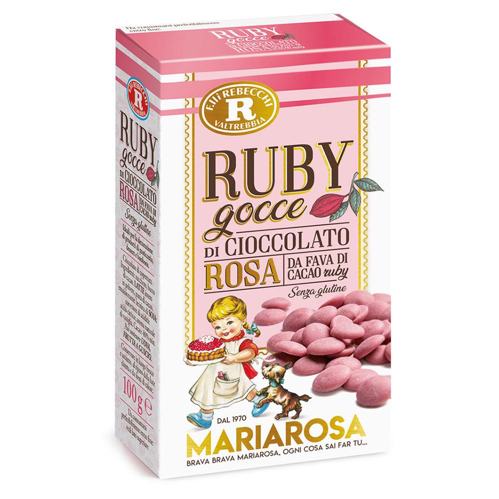 RUBY gocce di cioccolato rosa